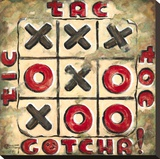 Tic Tac Toe Stretched Canvas Print by Janet Kruskamp