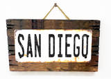 San Diego Rusted Wood Sign