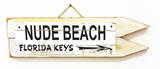 Nude Beach Florida Keys Vintage Wood Sign