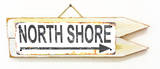 North Shore Rusted Wood Sign