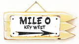 Mile 0 Key West Rusted Wood Sign