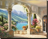 Balcony View Stretched Canvas Print by Sung Kim