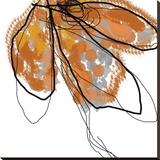 Orange Petals Sträckt Canvastryck av Jan Weiss
