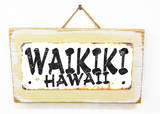 Waikiki Hawaii Rusted Wood Sign