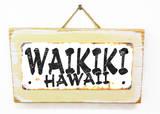 Waikiki Hawaii Rusted Wood Sign