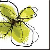 Green Petals Reproduction transférée sur toile par Jan Weiss