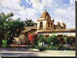 Mission del Carmel Stretched Canvas Print by Cyrus Afsary