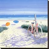 Le vélo rouge Reproduction sur toile tendue par Henri Deuil