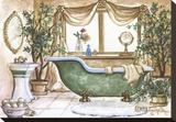 Vintage Bathtub lll Stretched Canvas Print by Janet Kruskamp