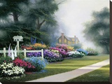 Garden Walk Stretched Canvas Print by Egidio Antonaccio