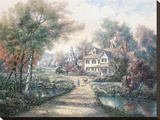 Hamlet Of Cloverdale Stretched Canvas Print by Carl Valente