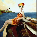 Goggles Return Stretched Canvas Print by Fred Calleri