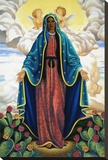The Virgin of Guadalupe Stretched Canvas Print by Gregory Truett Smith