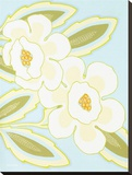 Spring and White Floral IV Stretched Canvas Print by Monica Kuchta