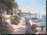 Private Harbor Stretched Canvas Print by Yuri Lee