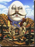 Humpty Dumpty Stretched Canvas Print by Gregory Truett Smith