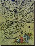 Reckless Embellish Stretched Canvas Print by Jennifer Lanne