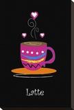 Milchkaffee Leinwand von Najah Clemmons