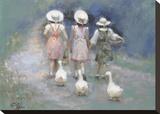 3 + 3 Reproduction transférée sur toile par Richard Judson Zolan