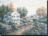 Vintage Island Home Stretched Canvas Print by Carl Valente