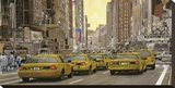 Taxis of New York Stretched Canvas Print by  Furtesen