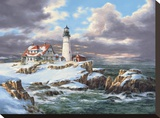 Portland Head Lighthouse Stretched Canvas Print by Rudi Reichardt