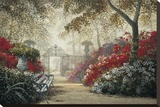 Garden Serenity Stretched Canvas Print by Juan S.E. Archuleta