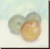 Apple Trio Stretched Canvas Print by Serena Barton