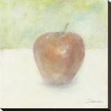 An Apple Alone Stretched Canvas Print by Serena Barton