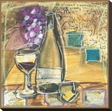 Wine And Cheese II Stretched Canvas Print by Tanya M. Fischer