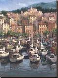 Bayside Harbor I Stretched Canvas Print by  Furtesen