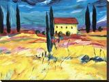 Provence Impression II Stretched Canvas Print by Natasha Barnes