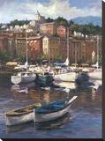 Bayside Harbor II Stretched Canvas Print by  Furtesen