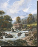 The Old Stone Mill Stretched Canvas Print by Nenad Mirkovich