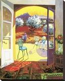 Invitation To La Bastide Vielle Stretched Canvas Print by Evelyne Boren