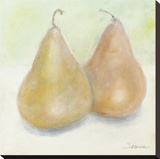 Pear Duo Stretched Canvas Print by Serena Barton