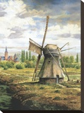 Brouwers Windmill Stretched Canvas Print by Francis Mastrangelo