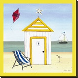 Beach House 2 Stretched Canvas Print by Katharine Gracey