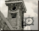Clock Tower Stretched Canvas Print by Judy Mandolf