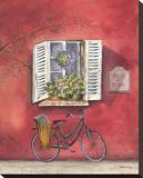 French Bicycle III Stretched Canvas Print by Katharine Gracey