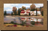 Village Reflection Stretched Canvas Print by Kanayo Ede
