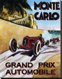 Monte Carlo Grand Prix Stretched Canvas Print by Chris Flanagan