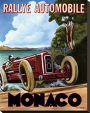 Monaco Rallye Stretched Canvas Print by Chris Flanagan