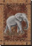 Elefante solitario Reproducción en lienzo de la lámina por Kathleen Denis