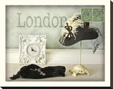 London Hat Stretched Canvas Print by Judy Mandolf