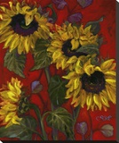 Sunflowers II Stretched Canvas Print by Shari White