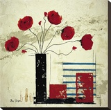 Les Coquelicots II Stretched Canvas Print by Isabelle Maysonnave
