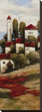 Red Roofs II - Detail Stretched Canvas Print by Kanayo Ede