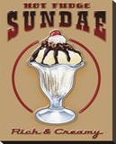 Hot Fudge Sundae Stretched Canvas Print by Mike Patrick