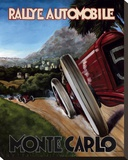 Monte Carlo Rallye Stretched Canvas Print by Chris Flanagan